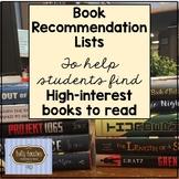 Summer Reading List 2018
