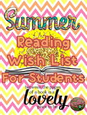 Summer Reading List  & Calendar for Students
