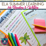 Summer Reading List Graphic Organizer and Book Recommendation Form