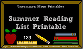 Summer Reading List Printable