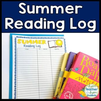 Summer Reading Log: Color & Black option