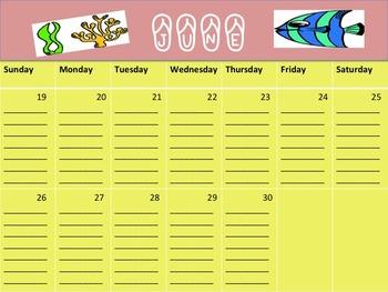 Summer Reading Log- Calendar