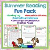 Summer Reading Log, Goal Setting, Certificates, Reading Skills Practice Sheets