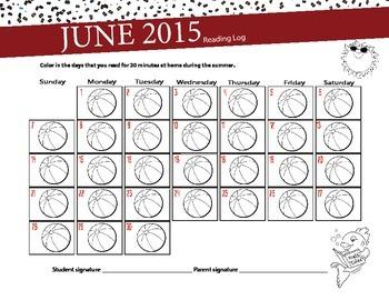 Summer Reading Log - June