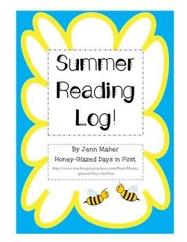 Summer Reading Log, Primary Lines, Kindergarten, First, Se