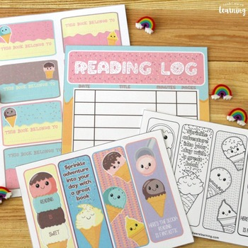 Student Reading Log: Sweet Reads Ice Cream Literacy Kit