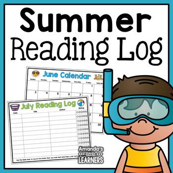 Summer Reading Log and Calendar Set