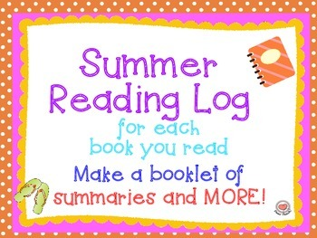 Summer Reading Log and Summary Cards for Booklets