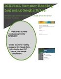 Summer Reading Log on Google Docs!