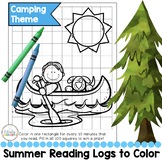 Summer Reading Log to Color Camping Theme