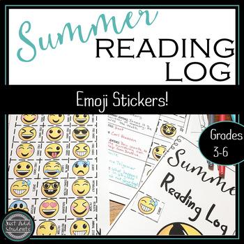 Summer Reading Log with Fun Emoji Stickers