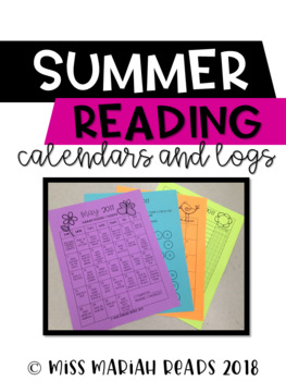 Summer Reading Logs and Calendars