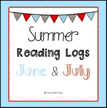 Summer Reading Logs for June & July