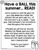 Summer Reading Logs for Primary Students
