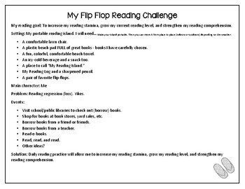 Summer Reading Challenge And Reading Log