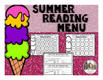 Summer Reading Menu Freebie