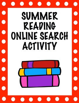 Summer Reading Online Search Activity