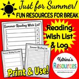 Summer Reading Pack for Summer Break