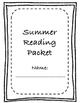Summer Reading Packet