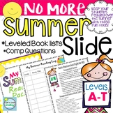 Summer Reading Packet with Leveled Book Lists and Parent Letter ~  Summer Slide
