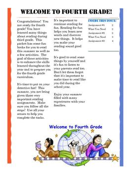 Summer Reading Packets for Entering Grades K-8