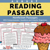 August Reading Passages - Nonfiction w/ Comprehension Activities