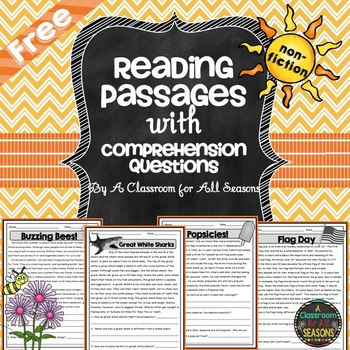 Summer Reading Comprehension Passages