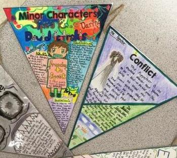 Summer Reading Pennant Project for any Novel or Story