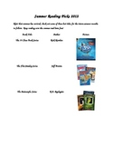 Summer Reading Picks 2012 Reading List and Chart