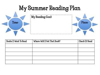 Summer Reading Plan