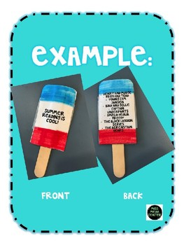 Summer Reading Popsicle Bookmarks - Grades 1-5 & Editable