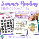 Summer Reading: Posters and BINGO Game to Help Prevent Summer Slide {EDITABLE}