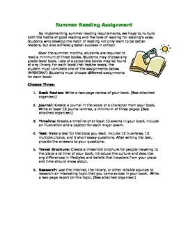 Summer Reading Program: Middle/High School