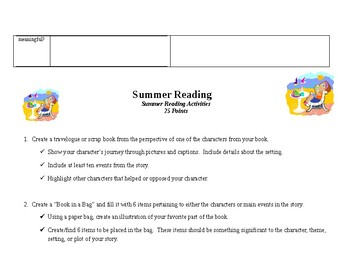 Summer Reading Project