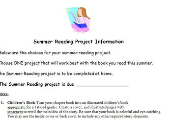 Novel Projects: Here's how to assess summer reading! BACK TO SCHOOL IDEAS!