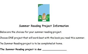 Novel Projects: Here's how to assess summer reading! BACK