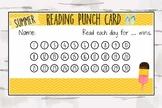 Summer Reading Punch Card, Reward Chart, Reward Card, Summer Reading