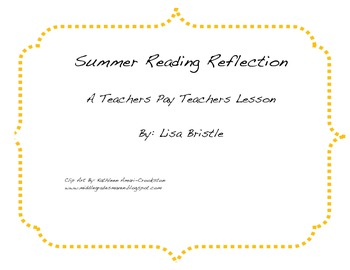 Summer Reading Reflection