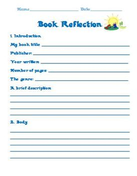 Summer Reading Reflection Project