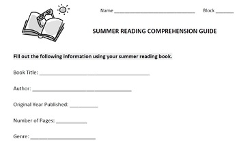 Summer Reading Review Packet