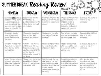 Summer Review {Reading}