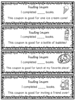 Summer Reading with Reward Coupons...FREEBIE!