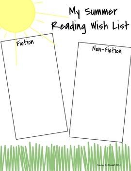 Summer Reading Sheets