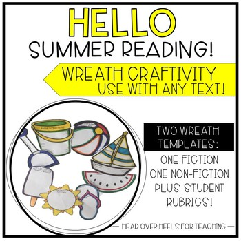 Summer Reading Wreath Craftivity {Use with any fiction or non-fiction text}