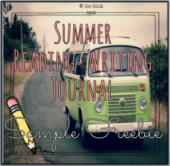 Summer Reading & Writing Journal Pages Freebie