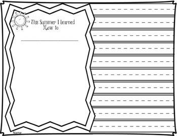 Summer School:  Summer Packet Reading & Writing Journals for K-2