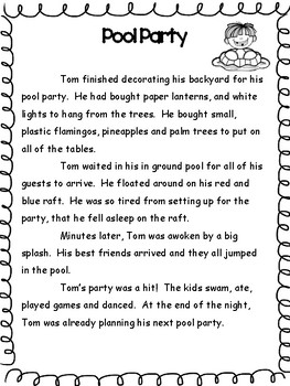 Summer Reading and Comprehension Packet for 2nd Graders going into 3rd Grade