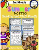 Summer Reading and Math No Prep Bundle - 2nd Grade