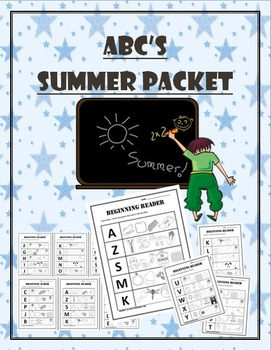 Summer Reading and Math Packet for K-1st Grade