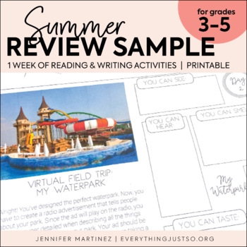 Summer Reading and Writing Activities | Summer Writing FREEBIE